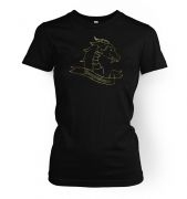 Gold Dragonslayer women's fitted t-shirt