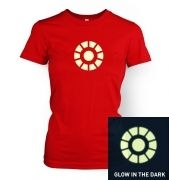 Arc Reactor (glow in the dark) women's t-shirt
