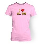 I Heart Captain Kirk women's t-shirt