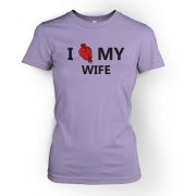 I real heart my wife womens t-shirt