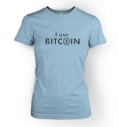 I use Bitcoin women's t-shirt