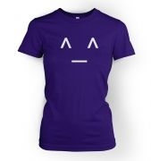 Women's Japanese-Style Happy Emoticon t-shirt