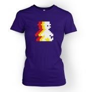 Retro Pixel Guy (trace) women's fitted t-shirt