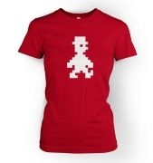 Retro Pixel Guy women's fitted t-shirt
