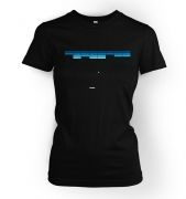 Retro Arcade Style (purple/blue) women's fitted t-shirt