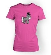 Top Hat Pony womens t-shirt