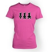 Walking Pixel Guy  womens t-shirt