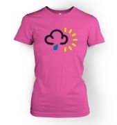 Weather Symbol Rain with Sun womens t-shirt