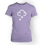 Women's Weather Symbol Snow t-shirt