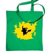Yellow Pikachu Silhouette tote bag