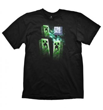 Minecraft Three Creeper Moon t-shirt - OFFICIAL
