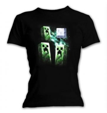 Minecraft Three Creeper Moon women's t-shirt - OFFICIAL