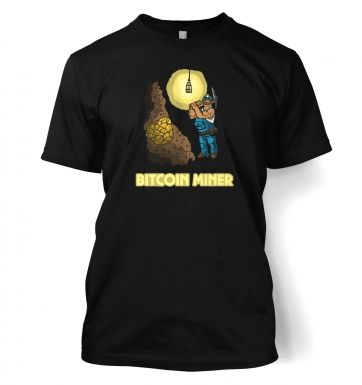 Mining In The Bitcoin Mine t-shirt
