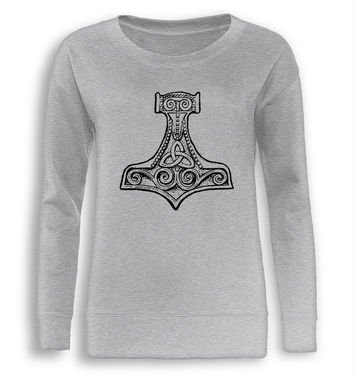 Mjolnir Hammer fitted women's sweatshirt