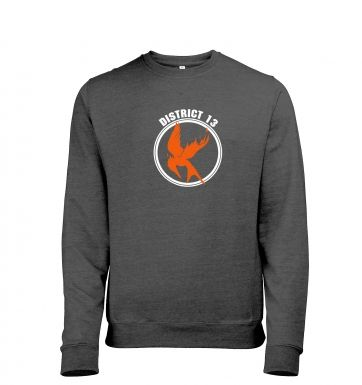 Mockingjay District 13 heather sweatshirt