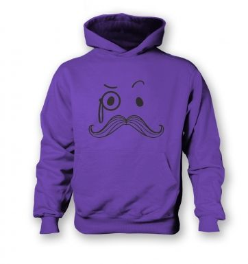 Monocle and Moustache Kids Hoodie