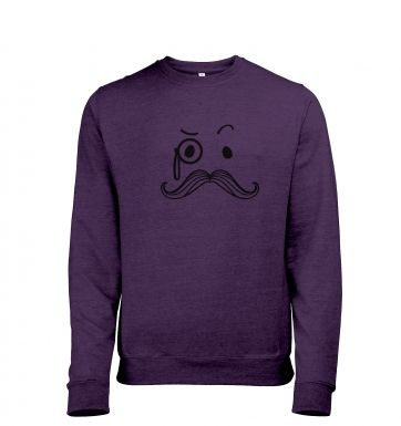 Monocle and Moustache Mens Heather Sweatshirt