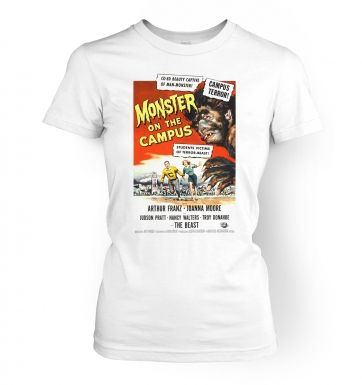 Monster On The Campus  womens t-shirt