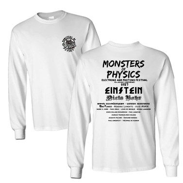 Monsters Of Physics (Front and Back) adult longsleeve t-shirt