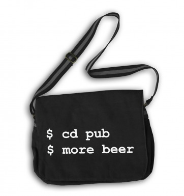 More Beer Linux messenger bag