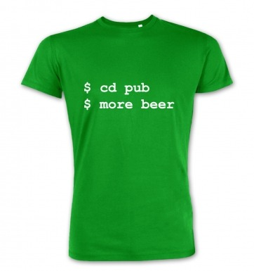 More Beer Linux premium t-shirt