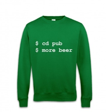 More Beer Linux sweatshirt