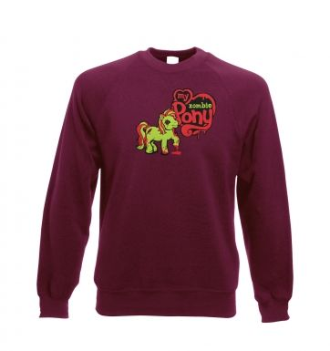 My Zombie Pony Adult Crewneck Sweatshirt