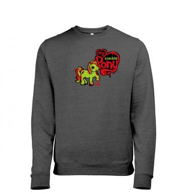 My Zombie Pony Mens Heather Sweatshirt