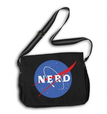 NASA NERD messenger bag