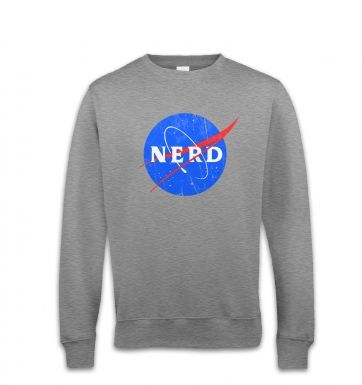 Nerd NASA logo sweatshirt