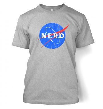 Nerd NASA logo t-shirt