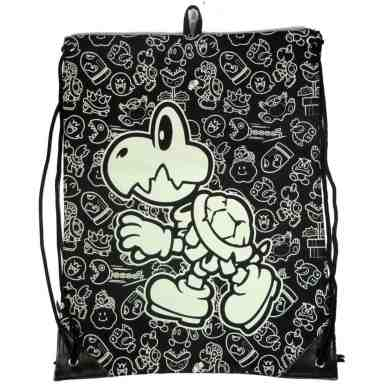 Nintendo Super Mario Bros gym bag - Glow In The Dark Bones
