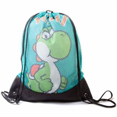 Nintendo Super Mario Bros gym bag - Yoshi with mesh exterior