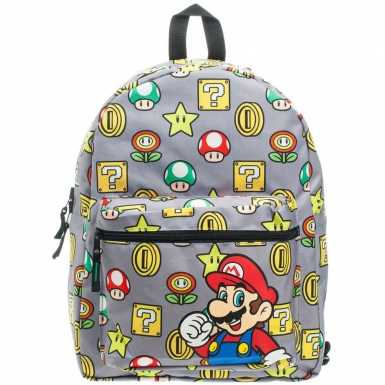 Nintendo Super Mario Bros reversible backpack