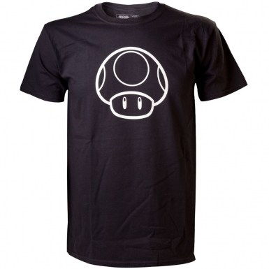 Nintendo Super Mario Bros t-shirt - Glow In The Dark White Mushroom