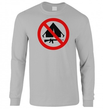 No Camping long-sleeved t-shirt