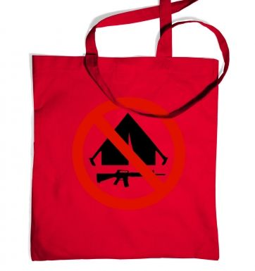 No Camping tote bag