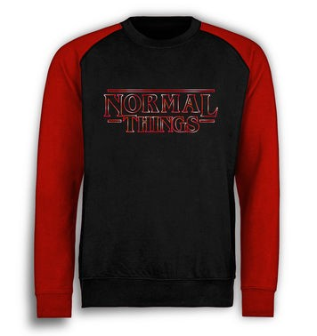 Normal Things baseball sweatshirt