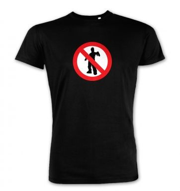 No Zombies Road Sign  premium t-shirt