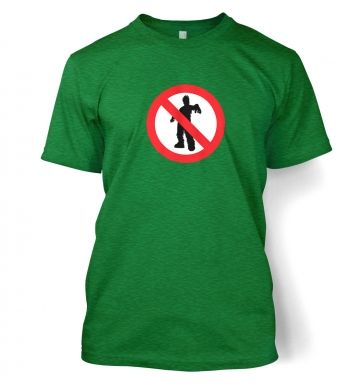 No Zombies Road Sign  t-shirt