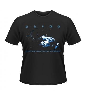 Alien In Space No-one Can Hear You Scream t-shirt - Official
