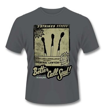 Official Breaking Bad Better Call Saul 3 Strikes t-shirt