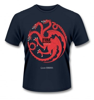 Official Game Of Thrones Fire And Blood t-shirt