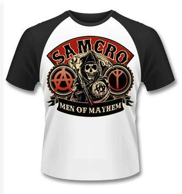 Official Sons Of Anarchy SAMCRO Reaper baseball t-shirt