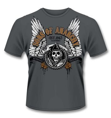 Official Sons Of Anarchy Winged Reaper t-shirt