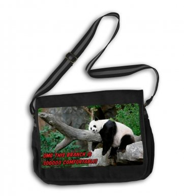 OMG Comfortable Branch Panda messenger bag