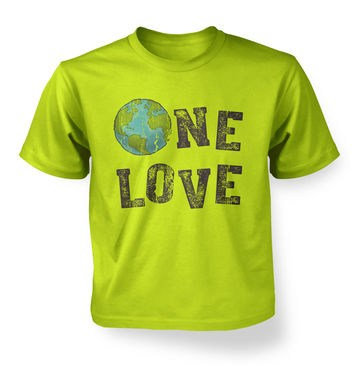 One Love (Earth) kids t-shirt
