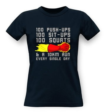One Punch Man Workout classic womens t-shirt