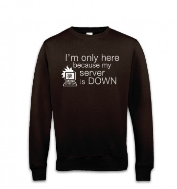 Only Here Because My Server Is Down sweatshirt