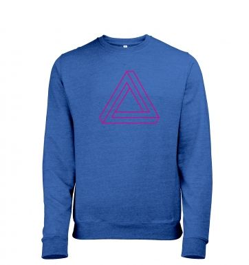 Optical Illusion Triangle Mens Heather Sweatshirt